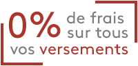 0% de frais sur tous vos versements sur le PER